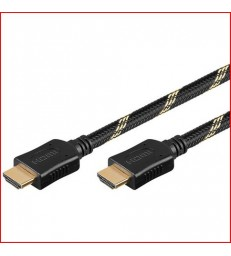 CORDON HDMI+GAINE COTON HTE QUALITE